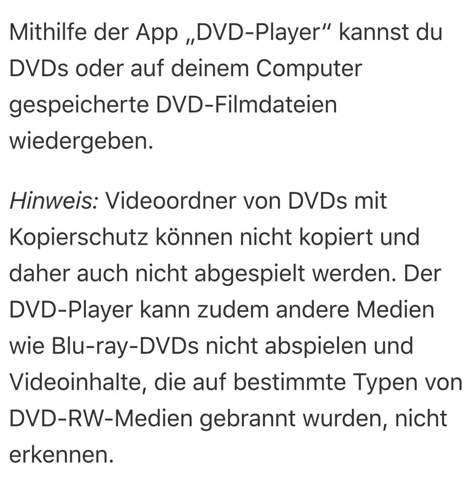 Frage zu DVDs bei Macbook?