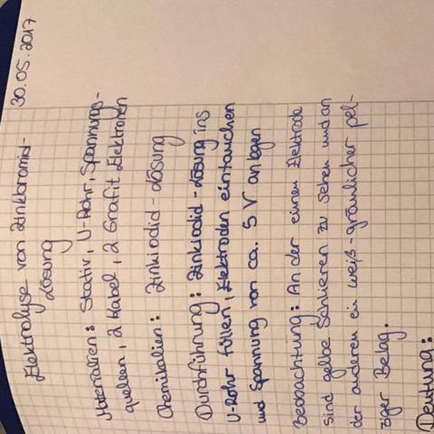 Was ich alles schon mal geschrieben habe  - (Schule, Chemie, Hausaufgaben)