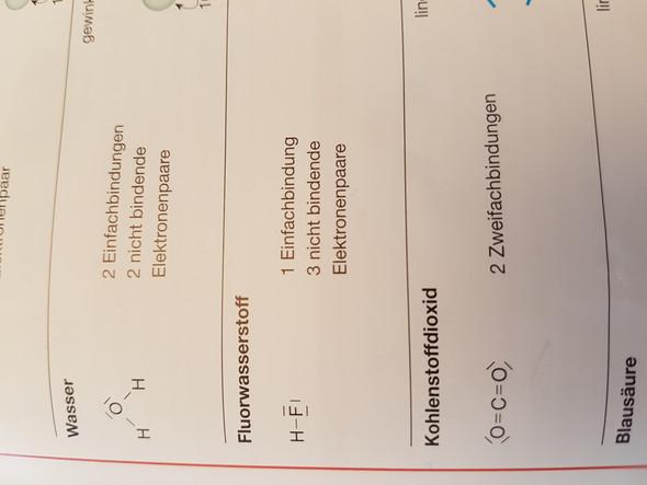 Frage zu Elektronenpaaren in Chemie? (Elektronenpaarabstoßungsmodell)