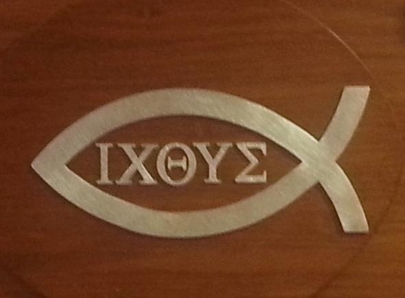 Was bedeutet der Fisch mit den Ziffern ?  - (Religion, Fische, Glaube)