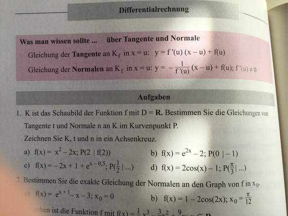cgvv - (Mathematik, normal, tangente)