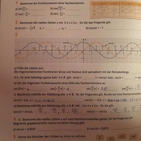 Hier sind die Aufgaben der Fragen - (Mathematik, Gymnasium, Bayern)