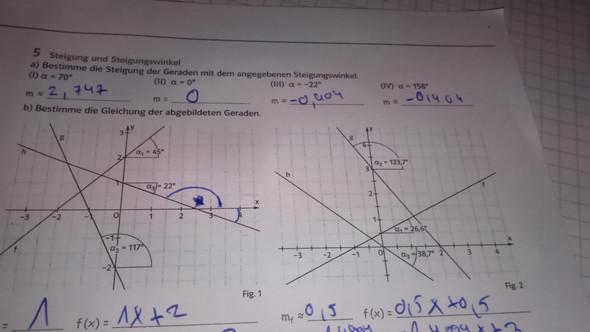 Die Graphen - (Mathematik, Graphen Steigung)