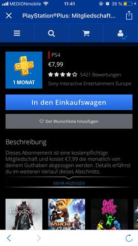 Frage Zu Playation Plus Sieh Bild Playstation 4 Playstation Plus