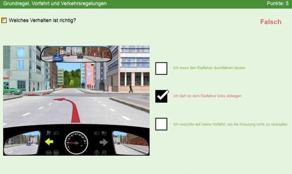 Bild 1 - (Führerschein, Verkehr, vorfahrt)