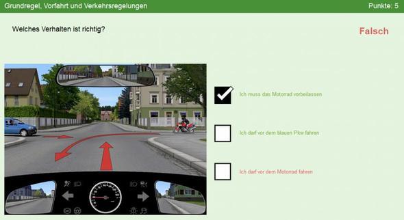 Bild 2 - (Führerschein, Verkehr, vorfahrt)