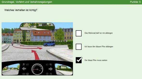 Bild 3 - (Führerschein, Verkehr, vorfahrt)