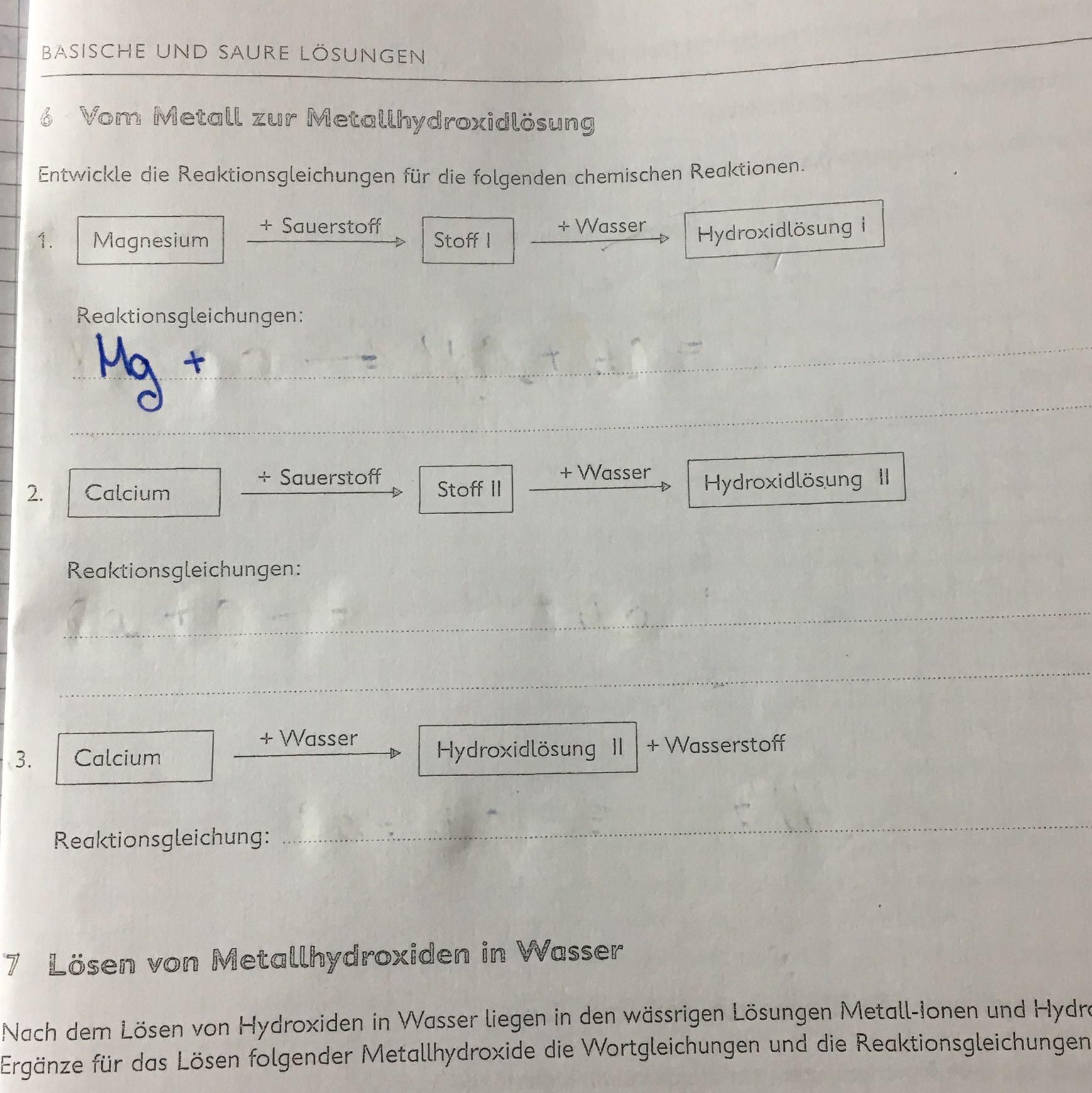 Fancy Wortgleichungen Chemie Arbeitsblatt Ensign - Kindergarten ...