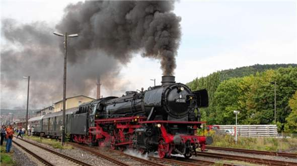 Frage zum Qualm/Dampf einer Dampflokomotive?