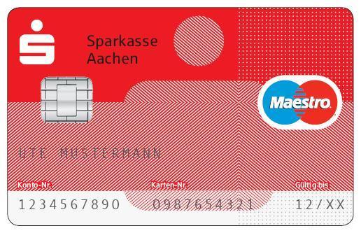 Sparkassenkarte - (Sparkasse, Maestrokart)