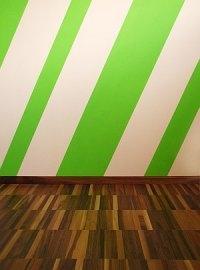 zimmer streifen farbe - Wandgestaltung Streifen
