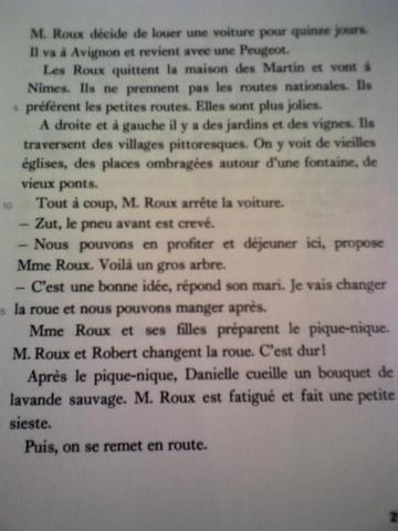 das kapitel 15 - (Freizeit, franzoesisch, Text)