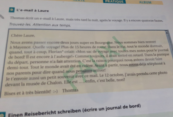 Französisch Fehler Finden Schule Lernen