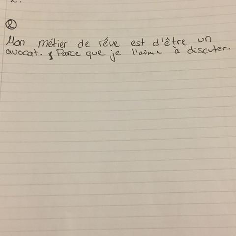 Da der Satz - (Arbeit, franzoesisch, Satz)