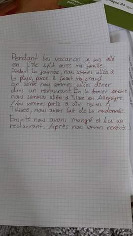 Französischer Text / passé composé?