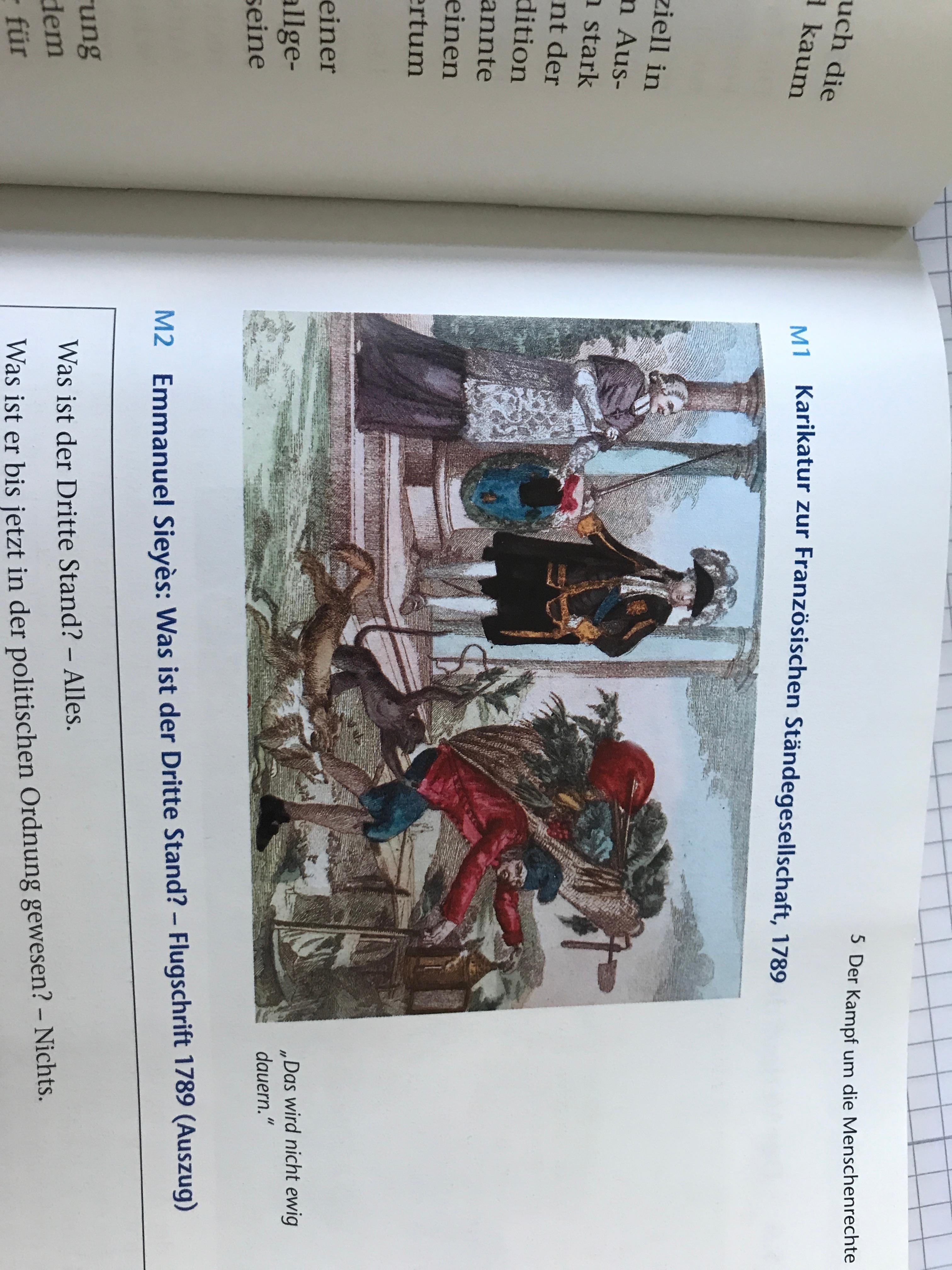 Französische Revolution Karikatur beschreiben und