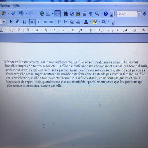Französische Zusammenfassung Vom Text Rester Vivante Richtig