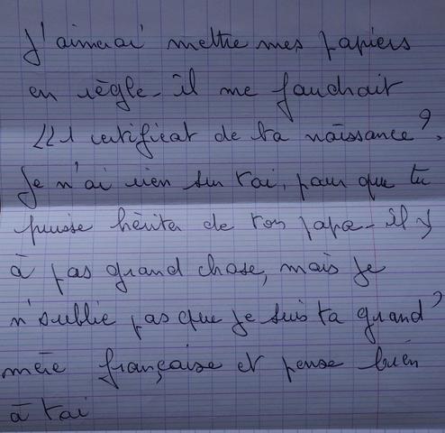 Französischen Brief übersetzen Deutsch Sprache übersetzung