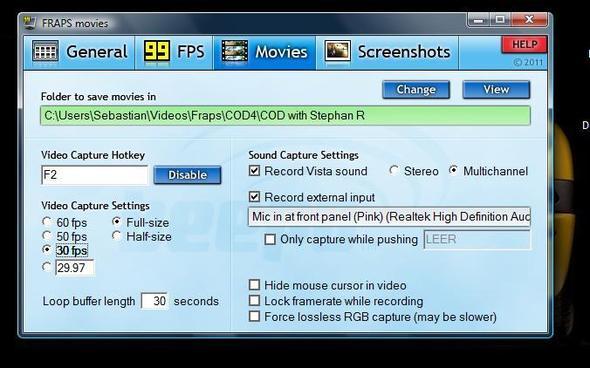 Meine Video einstellung - (PC, Programm, Aufnahme)