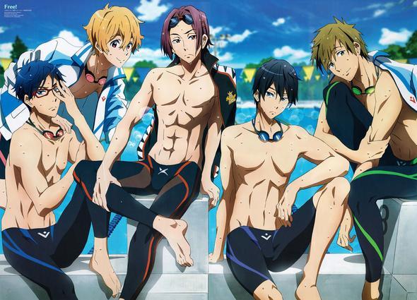 Hier mal alle versammelt. ^^ - (Anime, schwimmen)