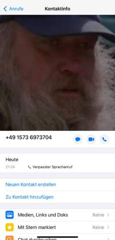 Foreign caller on WhatsApp?