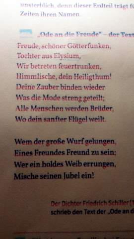 - (Schule, Lied, Gedicht)