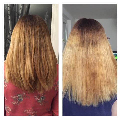 Links wie es nach friseur aussah rechts nach waschen - (Friseur, Haardisaster)