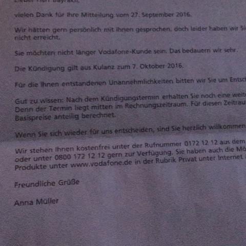 Fristlose Kündigung Vodafone Dsl Sonderkuendigung