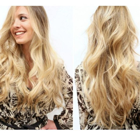 Frisuren langes blondes haar