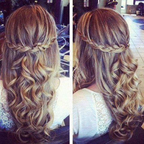 Frisur Für Abschlussfeier Schule Mädchen Haare