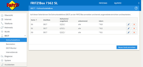 FRITZBox : Wie Anrufbeantworter-Aufzeichnungen laut mithören bei Siemens Gigaset C300 (Schnurlostelefon)?
