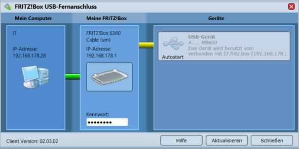 Trennen geht nicht - (Computer, Fritz Box, USB Fernanschluss)