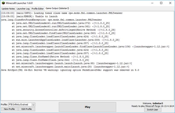Fehlermeldung - (PC, Spiele, Minecraft)