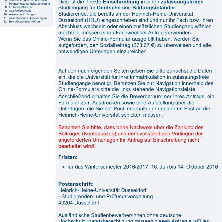 fr die bewerbung an der uni geld bezahlen chemie universitt bafg - Fh Dsseldorf Bewerbung