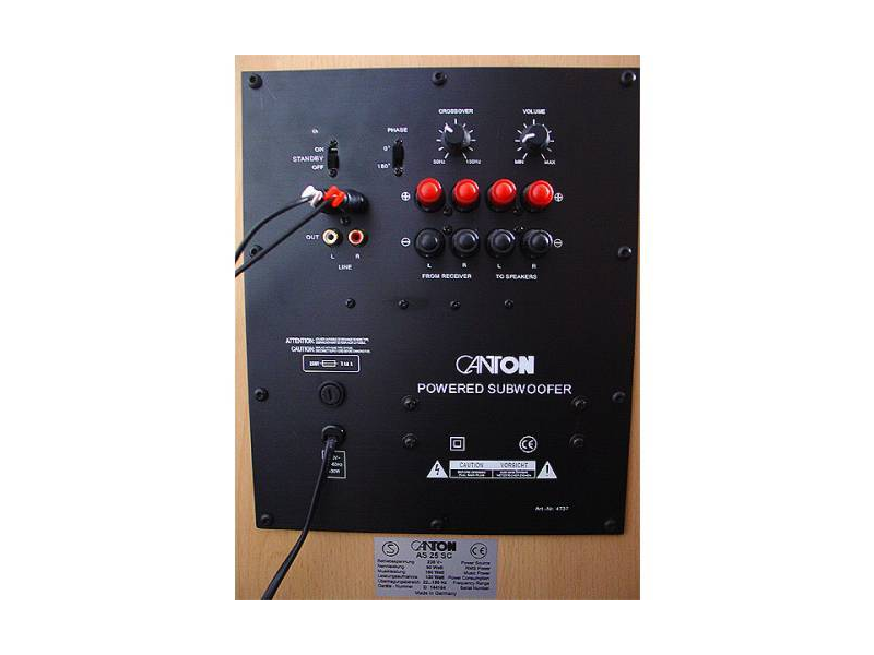 f r was sind die lautsprecherkabel anschl sse an einem aktiv subwoofer elektronik audio. Black Bedroom Furniture Sets. Home Design Ideas