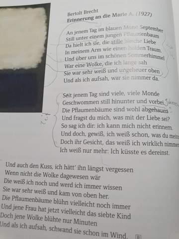 Für Was Steht Die Wolke Gedicht Berhold Brecht