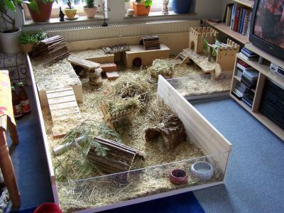Playhouse Rabbit Hutch