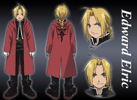 """Edward"" ´s Mantel mit dem Symbol - (Anime, Serie, Manga)"