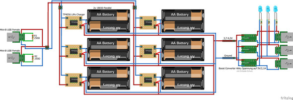 Bauplan Powerbank - (Elektronik, Akku, Batterie)