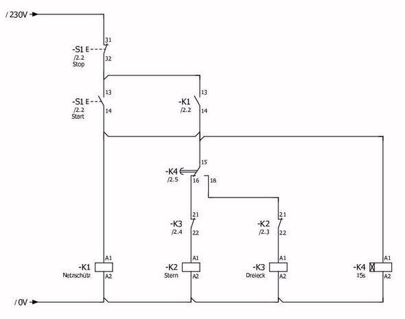 funktioniert diese vereinfachte stern dreieck schaltung strom motor elektrik. Black Bedroom Furniture Sets. Home Design Ideas