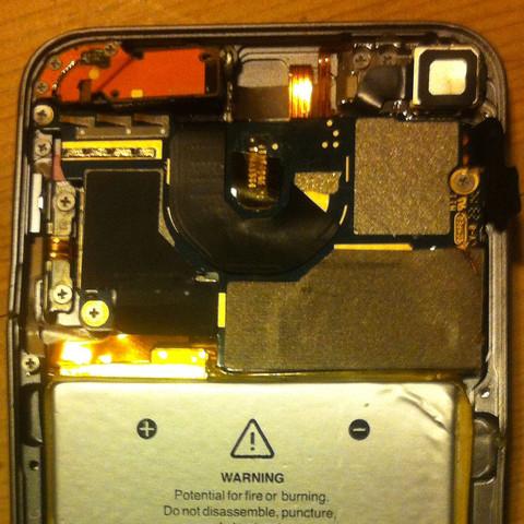 Hier erkennt man das Motherboard besser - (Apple, iPod Touch, iPod)