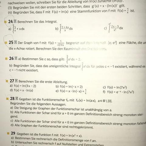 Funktionsschar mit natürlichem Logarithmus?