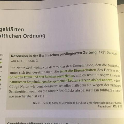 Und das ist der Text dazu  - (Schule, deutsch, Literatur)