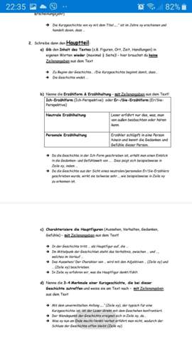 - (Schule, Deutsch, Textbeschreibung)
