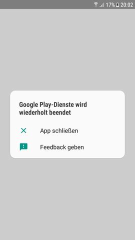 Google Play Dienste Wird Wiederholt Beendet