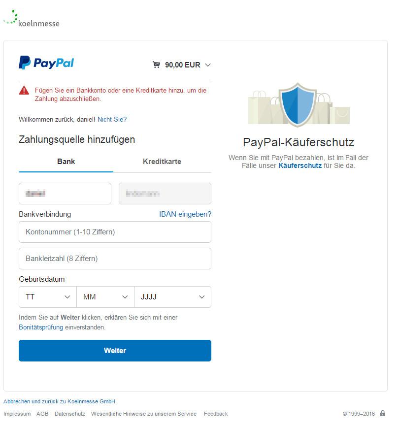 Paypal Lastschrift Funktioniert Nicht