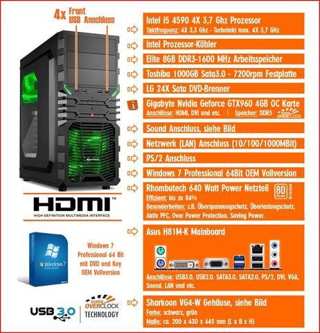 PC-Daten, Angaben - (PC, Gaming, Grafikkarte)