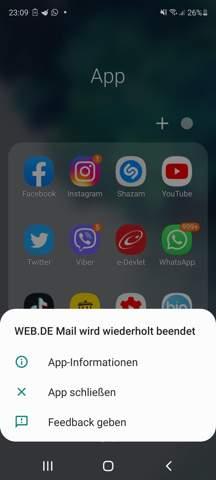 Ganze app beendet?