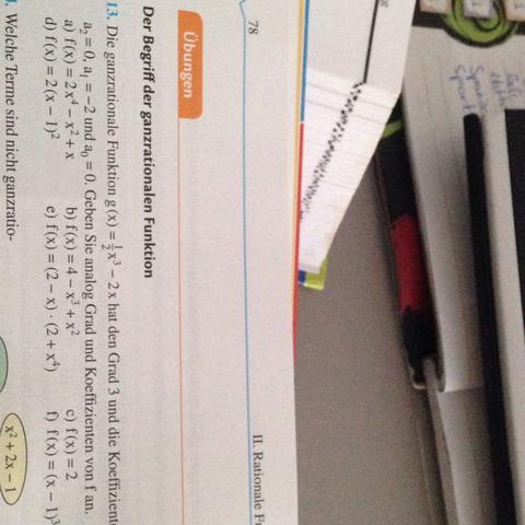 ganzrationale Funktionen: Koeffizienten angeben? (Mathe, polynom)