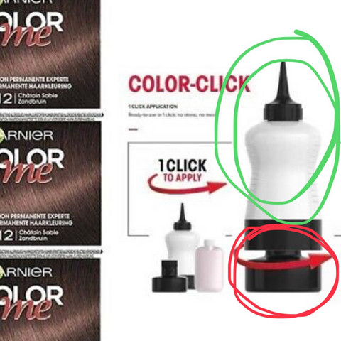 Garnier Color me Färbung (Clicksystem) Inhalt von Dose & Flasche dasselbe?